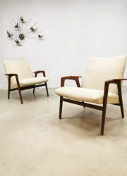 vintage design armchair lounge chair lounge stoel Pastoe Ruster