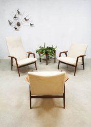 vintage lounge set Pastoe lounge stoelen chairs Ruster Yngve Ekstrom