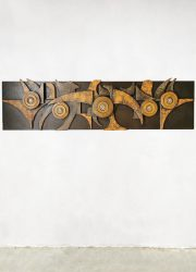 Vintage brutalist wall art wand decoratie XL jaren 60