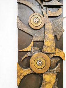 Vintage brutalist wall art wandsculptuur XL jaren 60