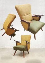 Midcentury Scandinavian design armchairs lounge fauteuils