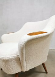 Danish design armchair cocktail stoel Deens boucle midcentury modern design