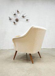 vintage cocktail chair fauteuil Teddy fabric cocktail chair armchair