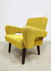 Vintage Czech design arm chair lounge chair Tatra 'Mellow Yellow'