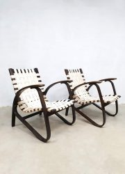 vintage design bentwood armchairs by Jan Vaněk for UP Zavodny lounge fauteuils