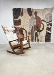 Vintage design handwoven wall tapestry wandtapijt 'earth tones'