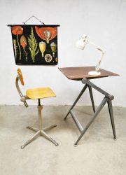 drawing table industrial tekentafel industrieel Dutch design tekentafel