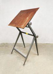 vintage industrial drawing table tekentafel Rietveld Friso Kramer industrieel