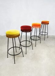 sixties vintage design barstools moulin rouge style barkrukken franjes horeca project retro