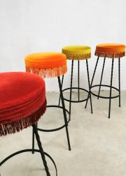 vintage design bar krukken barstools stool retro jaren 60