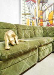 midcentury sofa modulaire bank modular lounge sofa green velvet