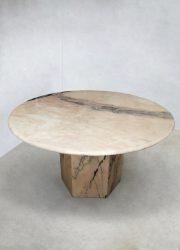 Midcentury Italian design marble dining table eetkamertafel marmer