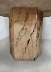 Italian marble dining table design midcentury Italiaans marmer eetkamertafel