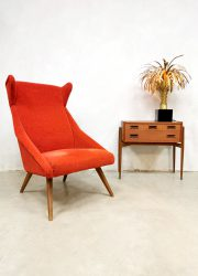 Midcentury Danish design wingback chair oorfauteuil