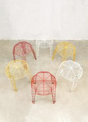 vintage kruk krukken draad wire stool stools vintage design industrial style
