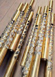 brass wall scones wandlampen design loft ecl