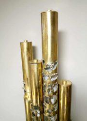 vintage design brass wandlamp wall scone jaren 90