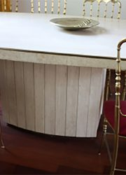 tavertine eetkamertafel Willy Rizzo marble dining table