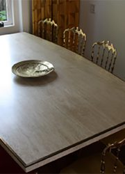 seventies dining table Italian design Willy Rizzo eetkamertafel