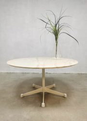 Vintage marble coffee table marmeren salontafel Vitra Eames