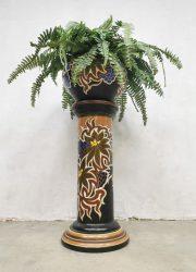 vintage plantenstandaard art deco stijl plant stand