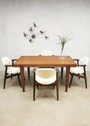 Vintage dining table dinner set eetkamertafel sixties design