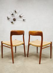Niels O Moller eetkamerstoelen Danish dining chairs