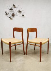 Danish design dining chairs Niels O Moller Danish design