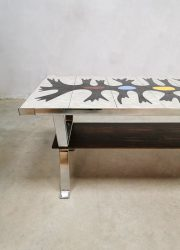 Tile coffee table salontafel vintage tafel Erpe bijzettafel