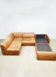 De Sede midcentury design sofa bank leather patina
