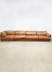 De Sede leather sofa bank DS76 modular lounge set