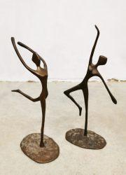 vintage 1960 ballerina ballet dancers statue figurines