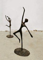 vintage ballerina bronzen beeldjes deco figurines