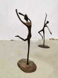 Vintage brass ballet dancers ballerina beeldje bronze figurines