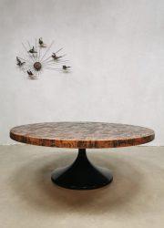 copper coffee table brutalist salontafel