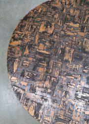 brutalist coffee table salontafel koper