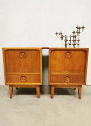 Vintage Danish design night stands Deense nachtkastjes
