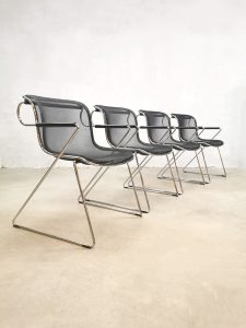 Vintage 'Penelope' dining chairs eetkamerstoelen Charles Pollock Castelli