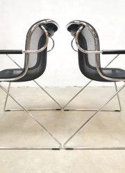 Charles Pollock eetkamerstoelen minimalism design 1982