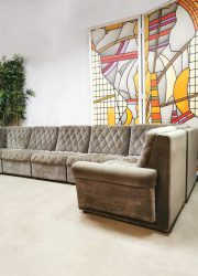 Vintage design brown modular sofa bruin elementen bank