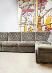 Gery Brown grijs bruin vintage modular modulair elementen sofa bank