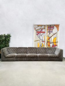 Vintage design modular sofa elementen bank 'Stitched'