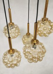 vintage eclectic light lamp pendant luster brass design Glashutte Limburg