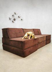 Elementen modulair bank velvet vintage Cor modular chocolate brown sofa