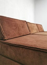 Elementen bank Cor modular modulair velvet sofa bank chocolat brown Cor