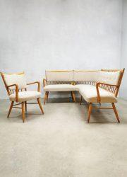 Vintage lounge set dining area bank stoel eethoek corner bench arm chair
