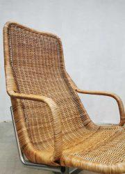 midcentury design Sliedrecht Noordwolde DUtch armchair rattan design