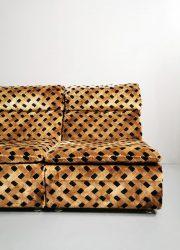 Lounge modular sofa brown modulaire elementen bank bruin