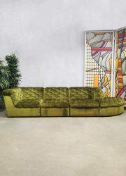 Vintage modular sofa velvet modulaire bank 'Luxurious green'