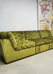 modulaire vintage sofa bank velvet green